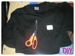 Mon premier DIY - Le t-shirt tête de mort.
