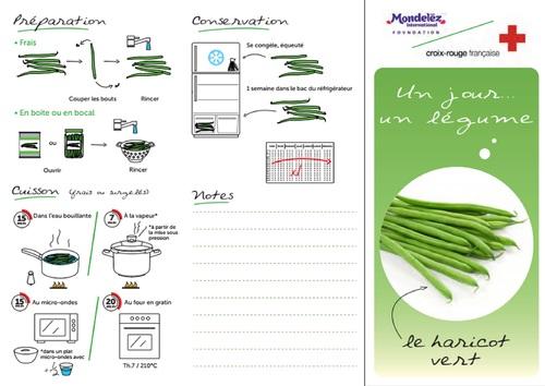 Haricot vert crus 25 g ( cuits 35 g ) 1 part