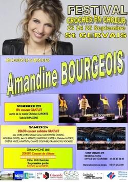 Amandine Bourgeois chante avec Croches en Choeur