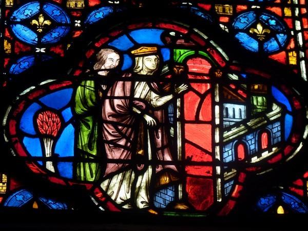 22 - Chapelle Haute (détail d'un vitrail)