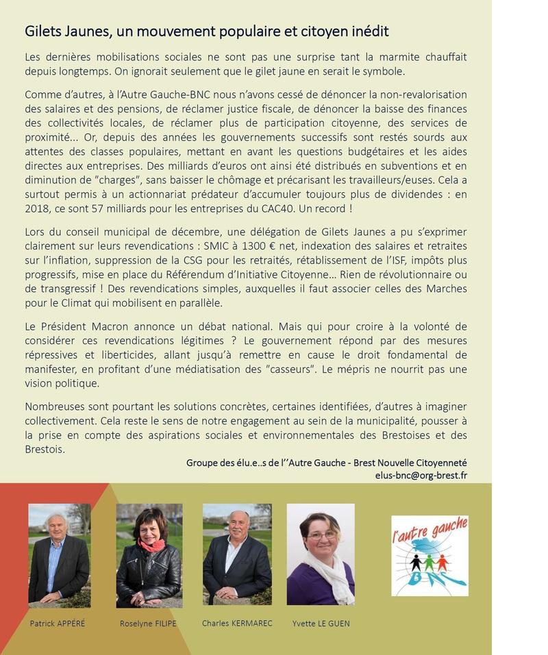 Gilets Jaunes, un mouvement populaire et citoyen inédit // Tribune des élu.e.s de l'Autre Gauche-BNC