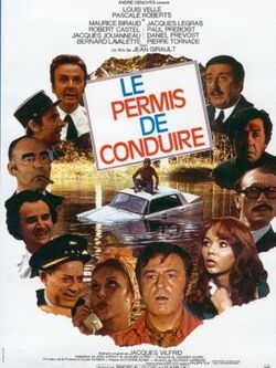 PERMIS DE CONDUIRE AFFICHE 1974