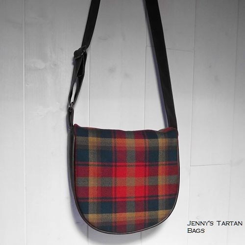 Maple Leaf tartan saddle bag