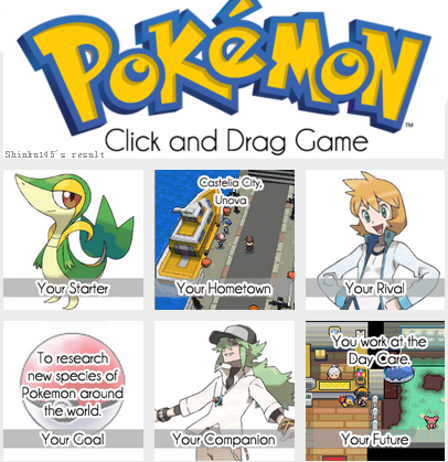 Pokemon Drag Game