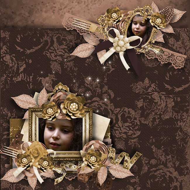 """Golden glamour"" de Lia Scrap"