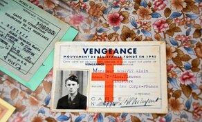 La carte de membre du réseau Turma Vengeance d'Alain Bodivit. Il avait 17 ans quand il rejoint la résistance.
