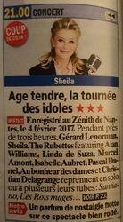 Actualité Sheila 2017 / MAJ du 13 février