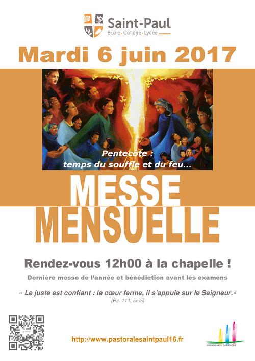 Dernière messe mensuelle 2017