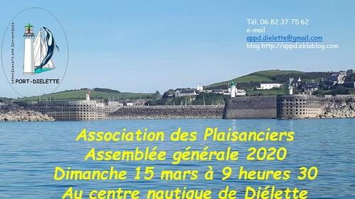 Assemblée générale 2020, rendez-vous dimanche 15 mars...