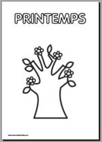 Coloriage des saisons pour la maternelle