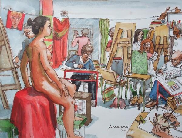 Dimanche - Scène d'atelier : Dix personnages