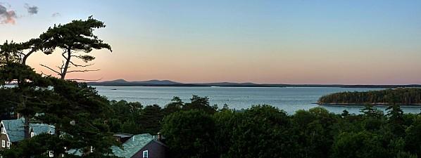 Bar Harbor panorama coucher de soleil