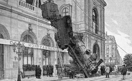 Une locomotive défonçait la gare Montparnasse