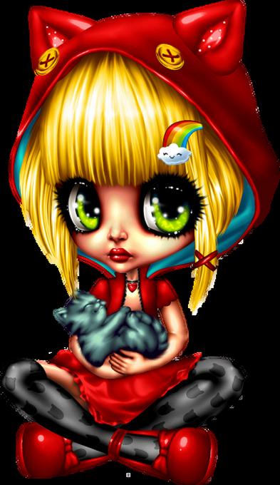 Tubes Dolls aux grands yeux