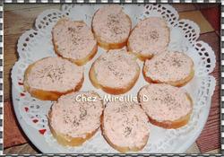 Rillettes de Saumon fumé sur Toasts