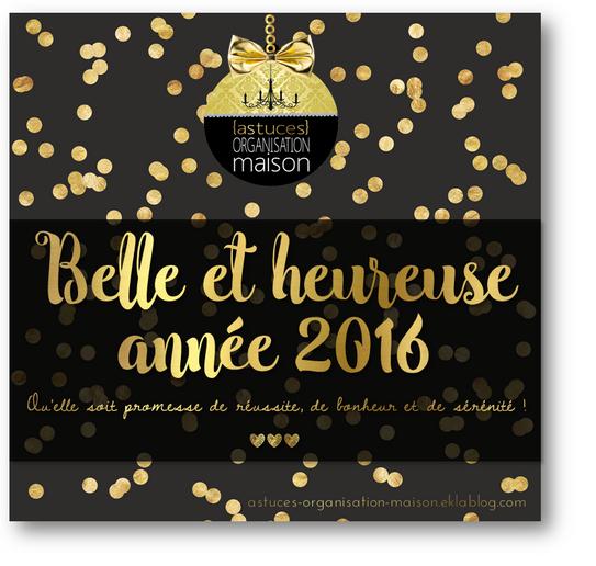 ✿ Belle et heureuse année 2016 !