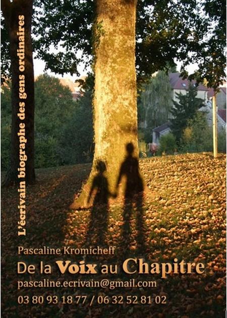 """Pascaline Kromicheff, écrivain des gens ordinaires, a créé """"De la voix au chapitre"""""""