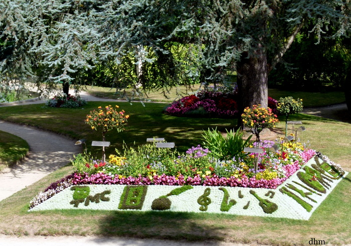 Thème du cinéma dans le parc de Coutances ( Manche)