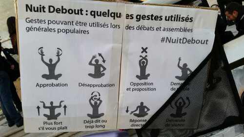 """Nancy : premier rassemblement """" Nuit Debout """" en ce 40 mars 2016"""