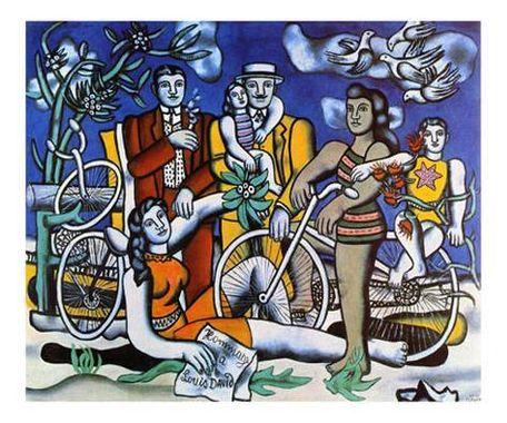 Reproduction d'art 'Les Loisirs, c.1948' par Fernand Leger ...