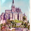 mt st michel en relief