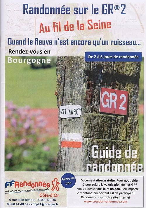 Lancement d'un guide de randonnée sur le GR2, au fil de la Seine, quand le fleuve n'est encore qu'un ruisseau...