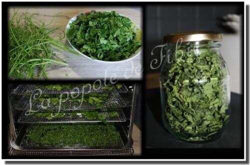 Herbes aromatiques déshydratées