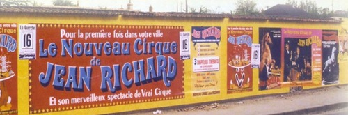 affichage du nouveau cirque de Jean Richard en 1976