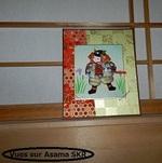 Un jeune samouraï à l'heure du thé.