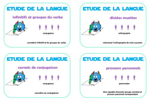 les ateliers d'étude de la langue d'inspiration Montessori