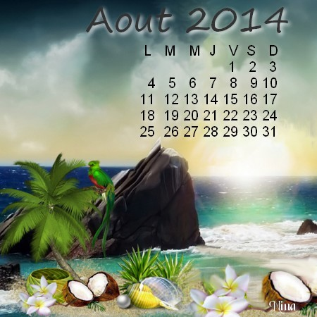 Calendrier Aout