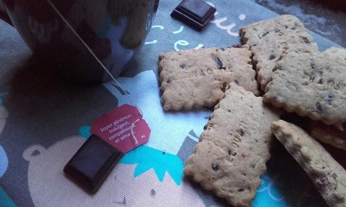 """Petits """"Beurre"""" au chocolat pour le goûter {Vegan}"""