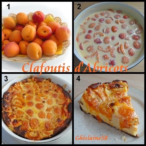 Clafoutis aux abricots (frais)