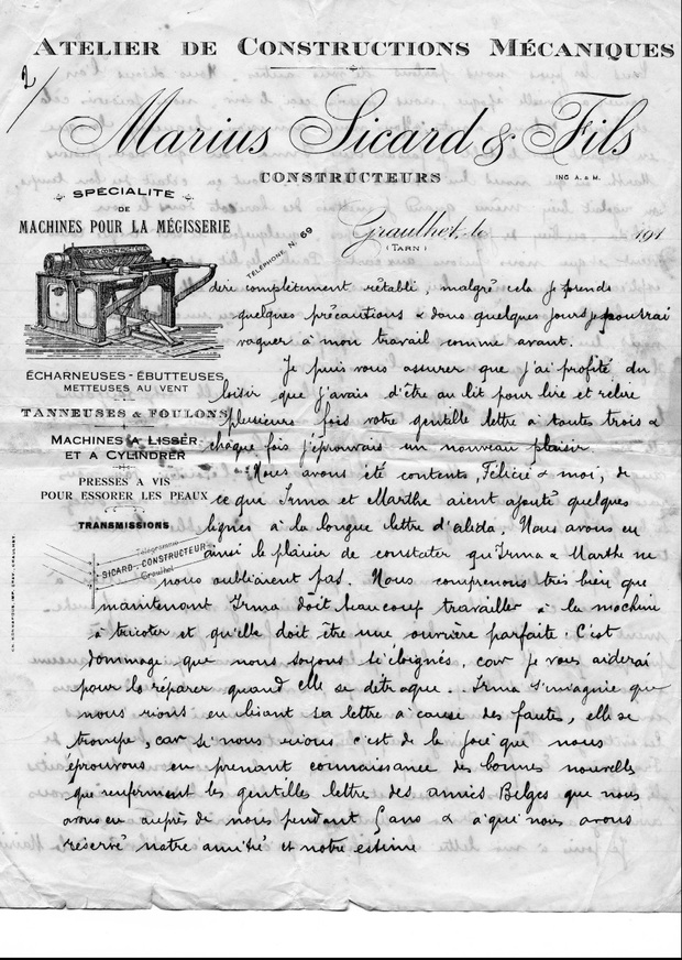 - Réfugiés belges à Graulhet en 1914