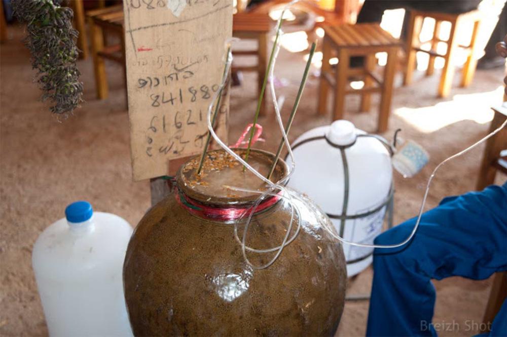 Thaïs noirs Ban Donlè : Vin de riz