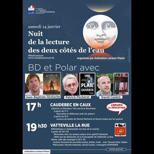Patrick Pécherot sera ce samedi @seinemaritime à l'occasion de la 1ère #NuitLecture