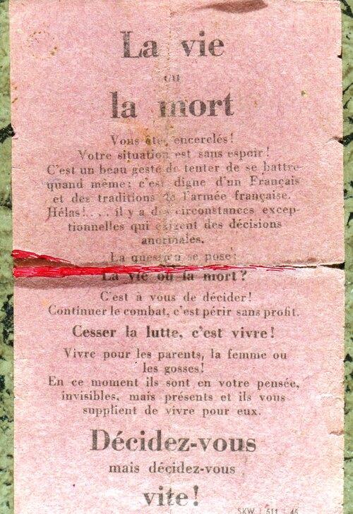 * La Résistance héroïque d'OBENHEIM du 7 au 11 Janvier 1945