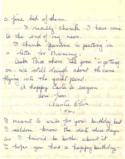 Auntie Olive's letters 2