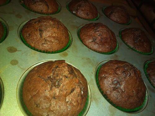 Muffin double chocolat et Banane {Vegan}