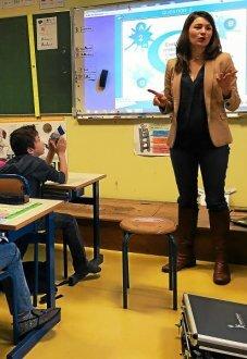 Le quiz concernant l'impact de l'alimentation sur la santé, animé par Mathilde Le Boulch, a vivement intéressé les enfants.
