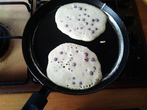 Pancakes aux Groseilles pour le brunch/petit déjeuner du dimanche {Vegan}