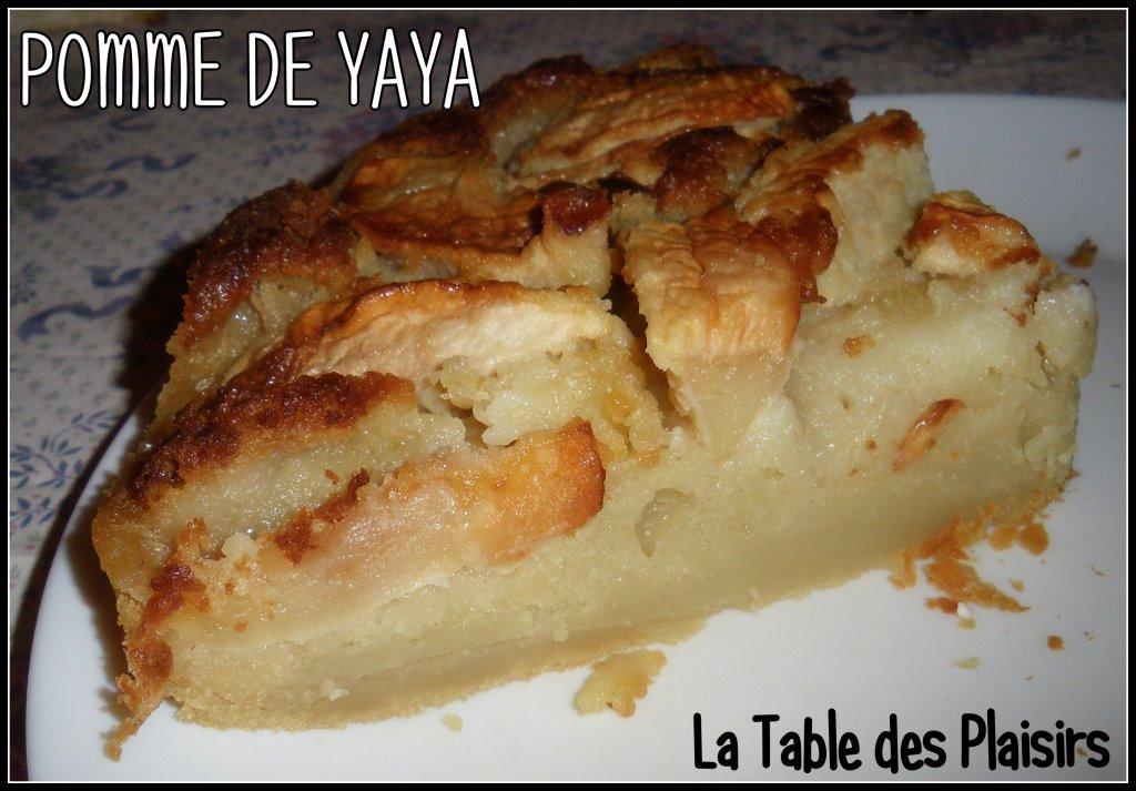 Gateau aux pommes yaya