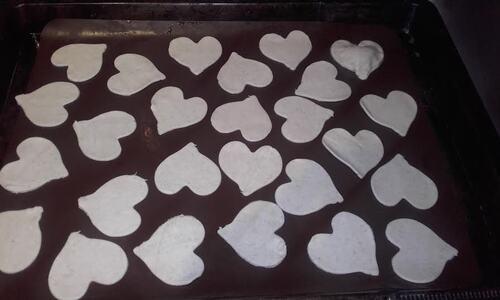 mini feuilletés aux poireaux pour la saint valentin {Vegan}