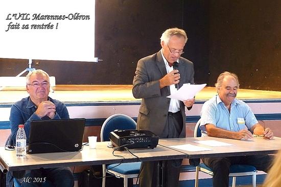 Michel Rivault, trésorier - Philippe Lafon, président - Thierry Bourderioux, secrétaire