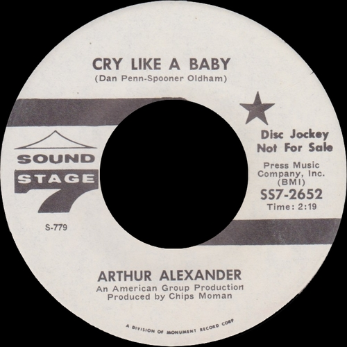 "Arthur Alexander : CD "" Baby , Baby 1963-1970 "" Soul Bag Records DP 105 [FR]"