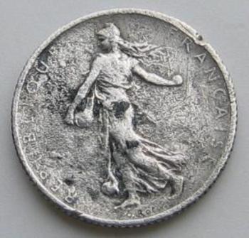 1 franc Semeuse 1900 en argent avers