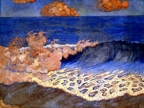Georges Lacombe, Marine bleue, Effet de vague