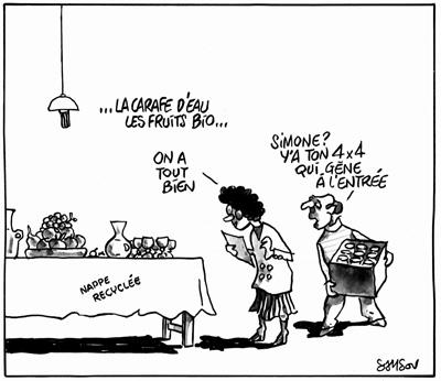 """""""En toutes circonstances, ce naturiste portait des tenues couleur chair"""". Jacques Damboise in """"Pensées coquinettes""""."""