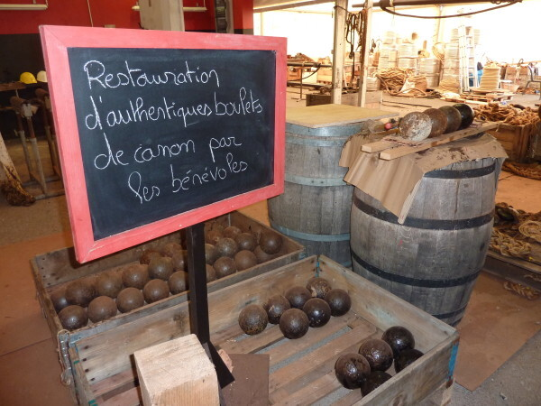 Les boulets restaurés