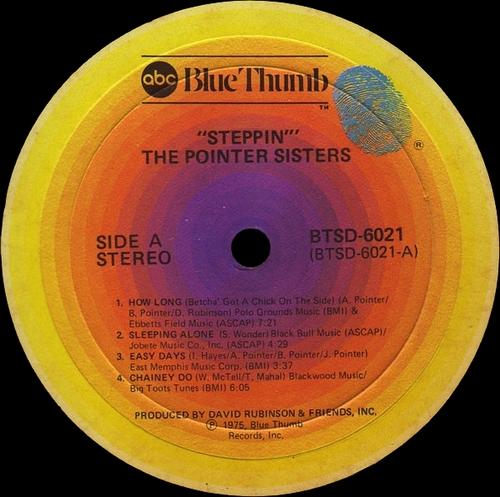 "The Pointer Sisters : "" Steppin' "" abc Blue Thumb Records BTSD-6021 [ US ]"